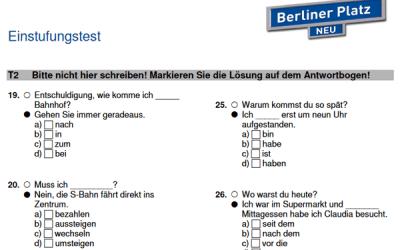 Einstufungstest Berliner Platz