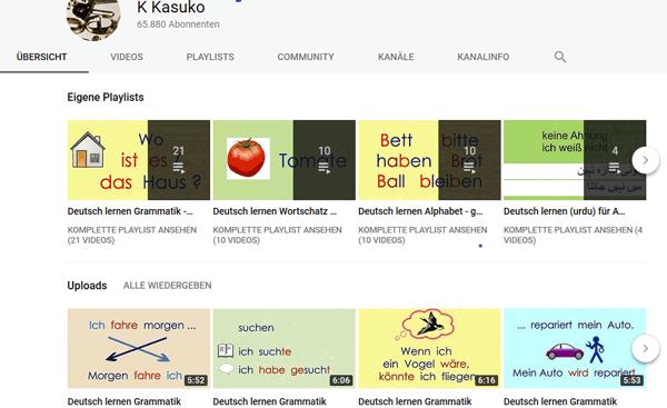 K Kasuko: Videos auf youtube