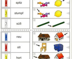 Bergedorfer Colorclips: Verben und Adjektive