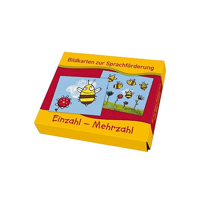 Bildkarten zur Sprachförderung: Einzahl – Mehrzahl